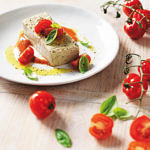 Eggplant Terrine with Tomato Coulis
