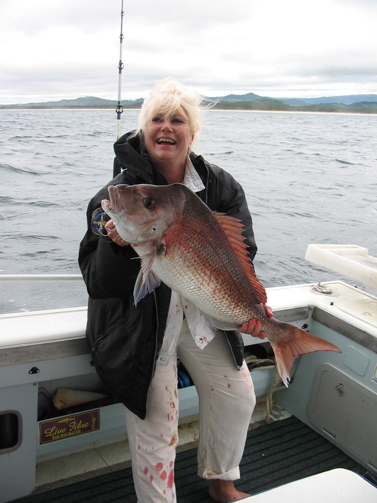 "John ""Stinker"" Clarke says snapper is our fishing fave…."
